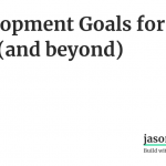 Development Goals for 2019 (and beyond)