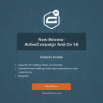 ActiveCampaign Add-On v1.6 Released